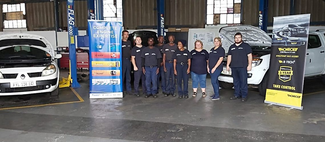 Federal Mogul training Training at Cliffies Auto Repairs in East London.